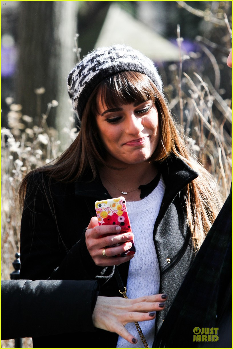 lea michele heats up before glee 203072095