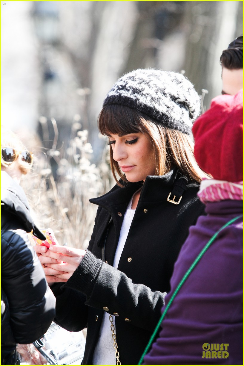 lea michele heats up before glee 23