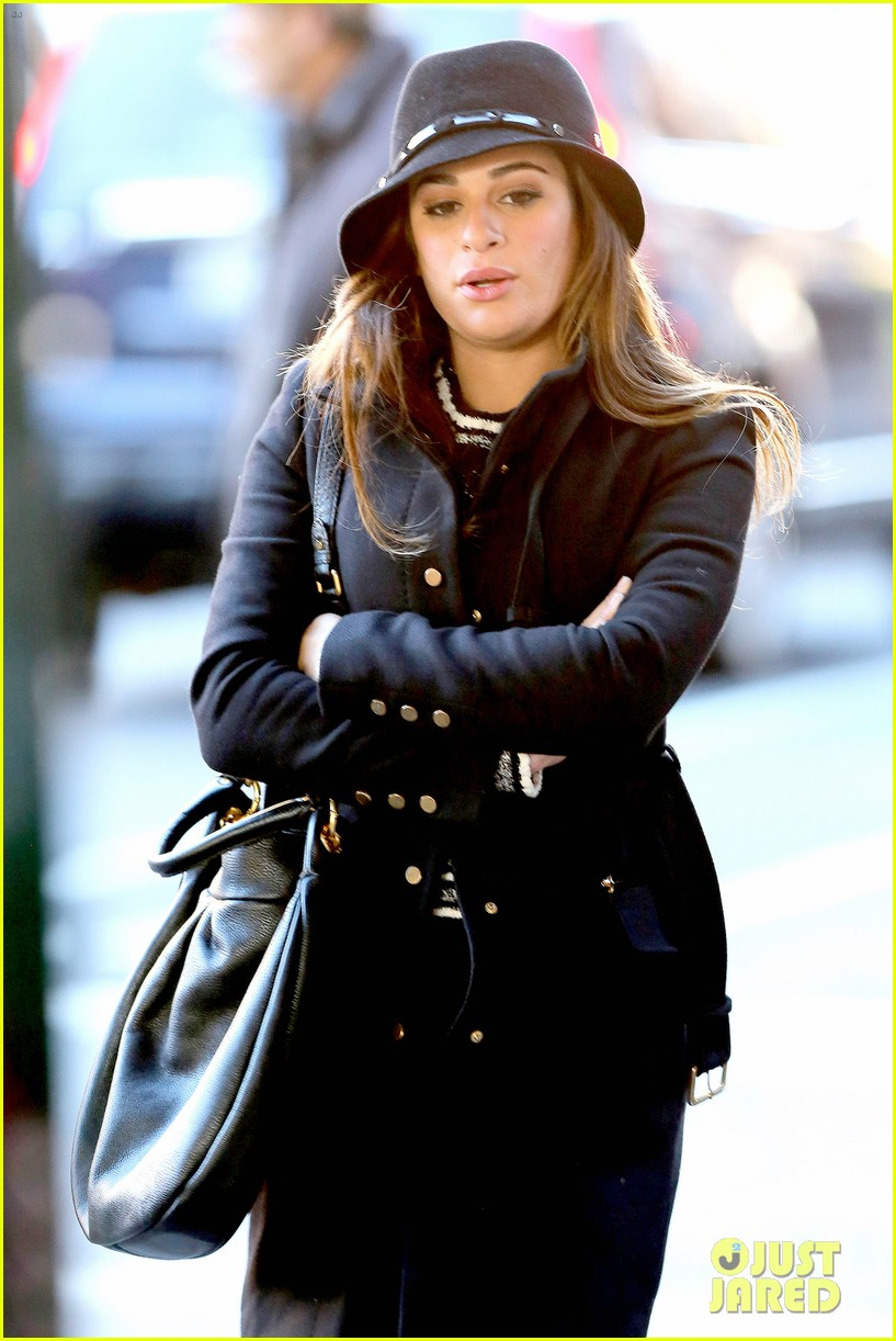 lea michele switches outfits around glee nyc 023071433