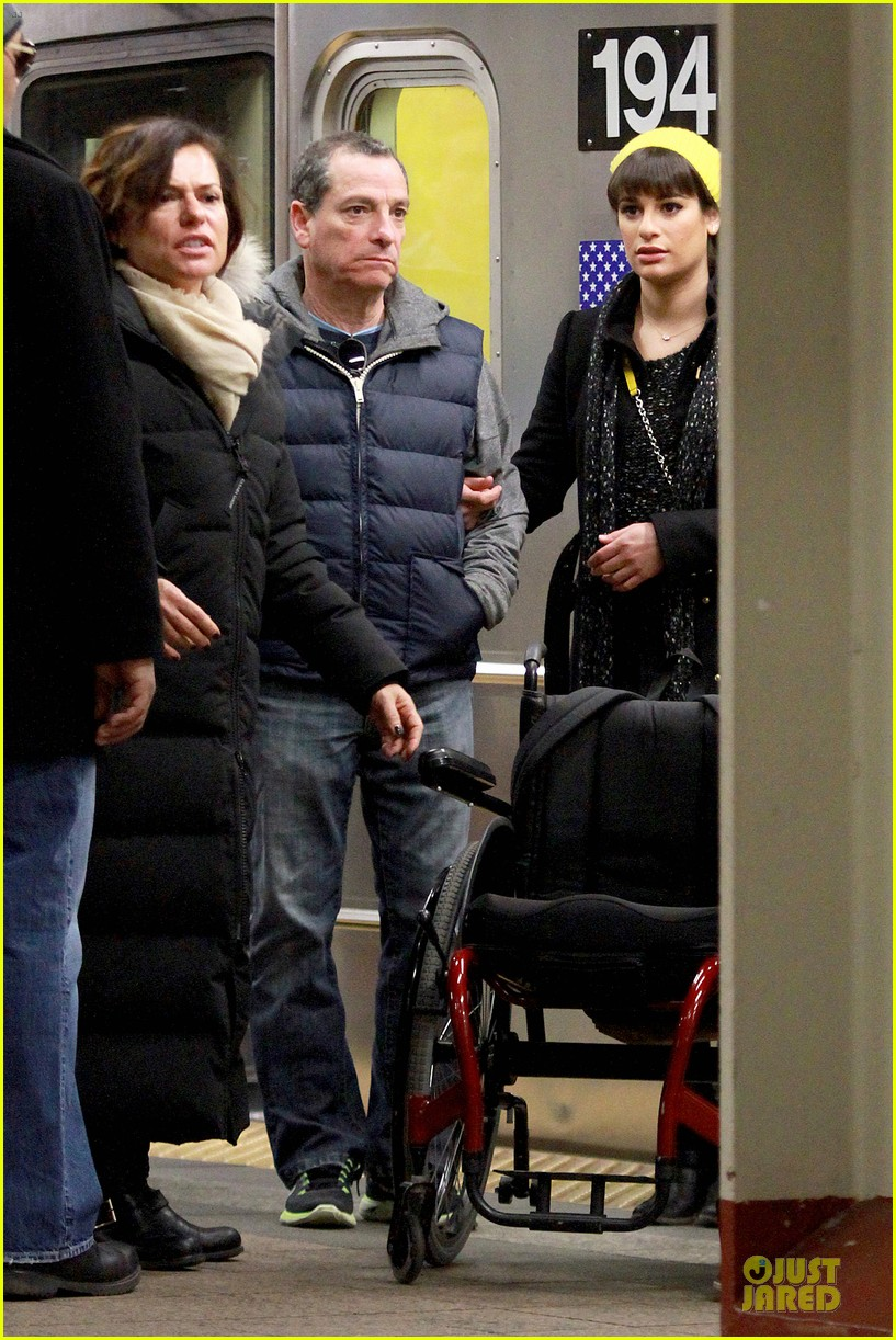 lea michele kevin mchale take glee underground in nyc 10
