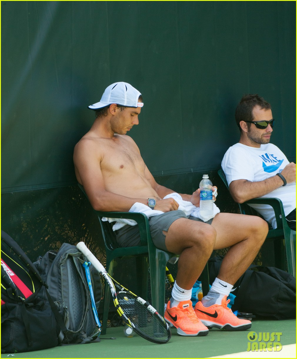 rafael nadal shirtless sony open 233077677