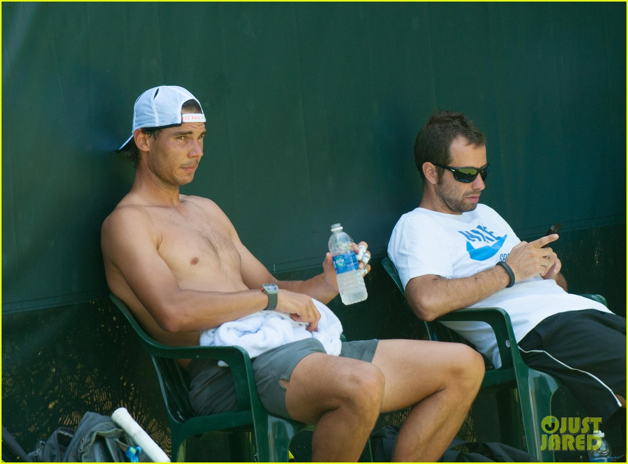 rafael nadal shirtless sony open 24