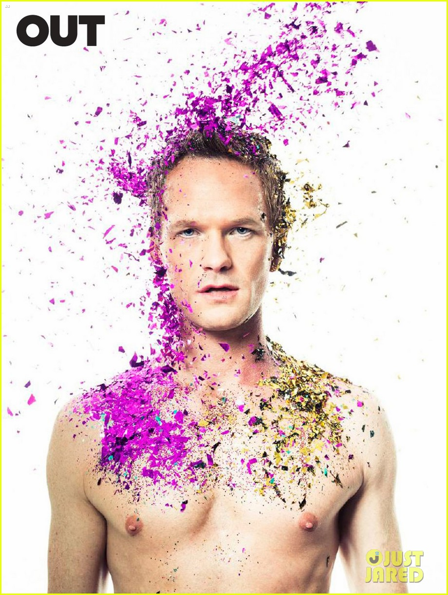 neil patrick harris shirtless glitter out 05