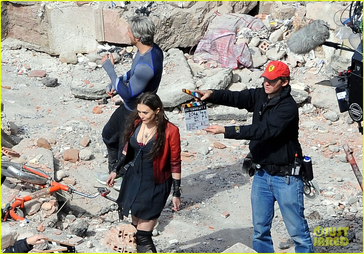 elizabeth olsen aaron taylor johnson get touched up avengers 06