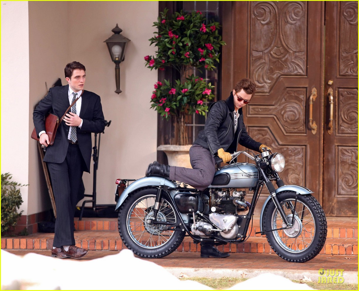robert pattinson dane dehaan enjoy life on a motorcycle 03