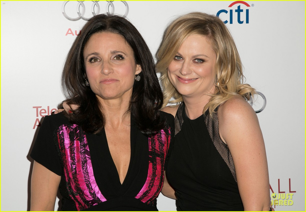 amy poehler julia louis dreyfus doll up for hall of fame gala 16