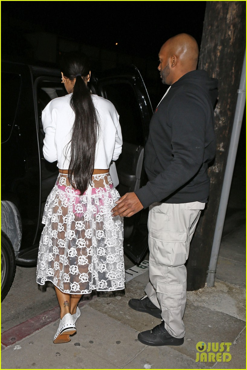 rihannas underwear is completely visible under her totally see thru skirt 16