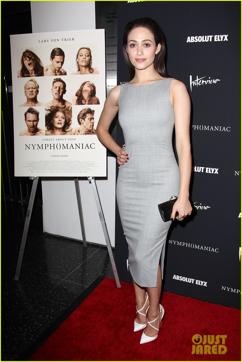 emmy rossum supports uma thurman nymphomaniac premiere 223071577
