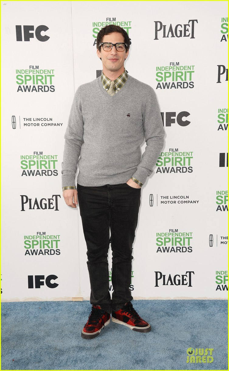 andy samberg bill hader expressive presenters at independent spirit awards 2014 013063065