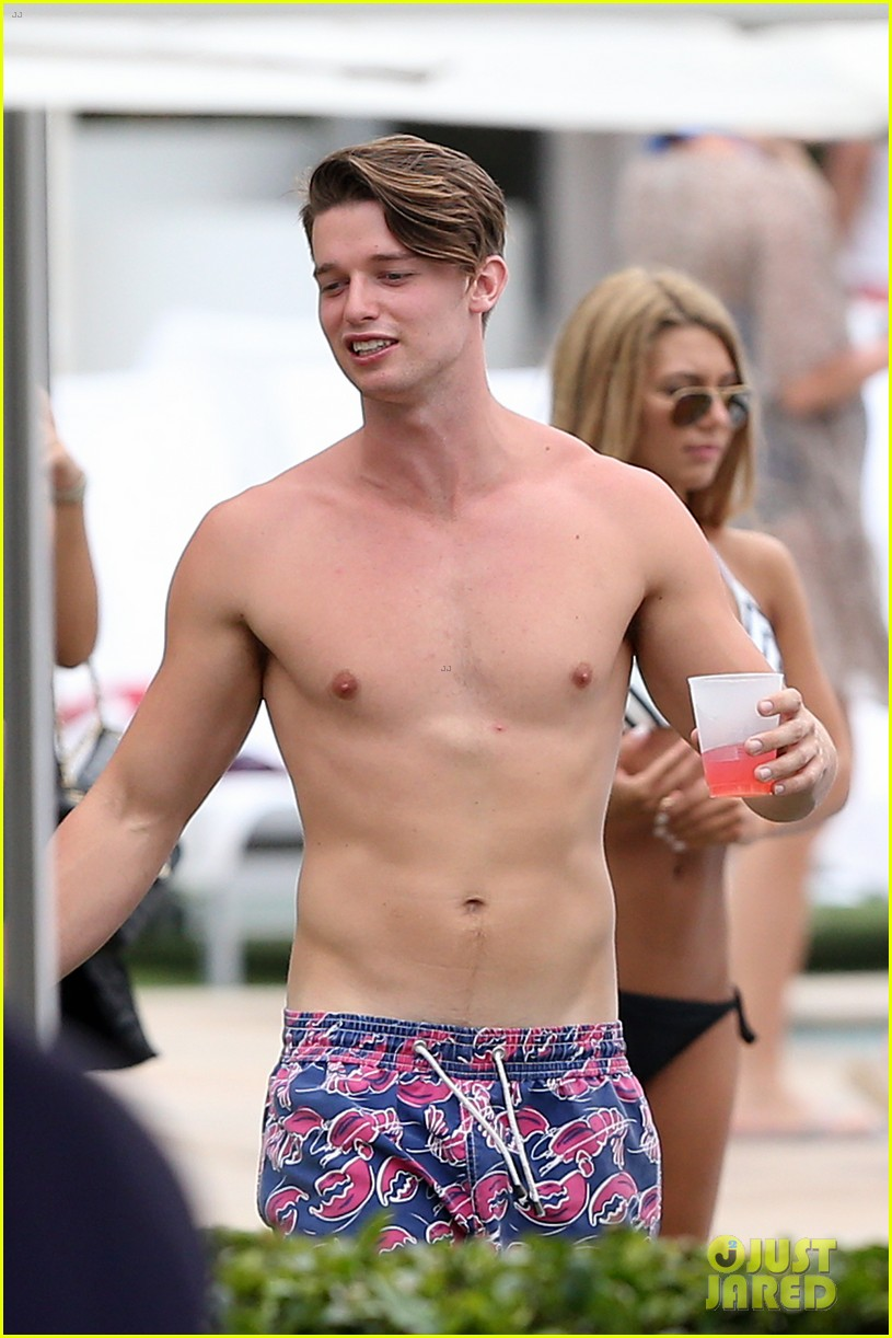 patrick schwarzenegger six pack abs miami spring break 233081587