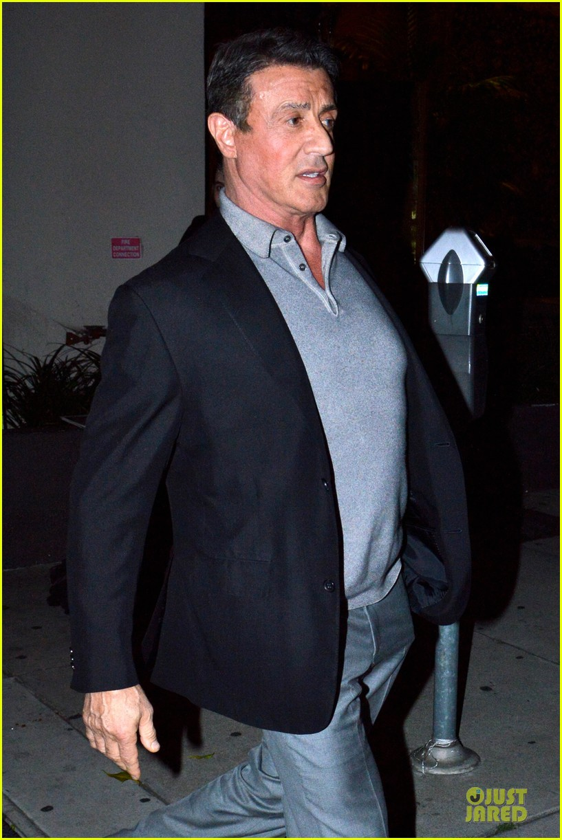 jason statham sylvester stallone dinner at craigs 233070128