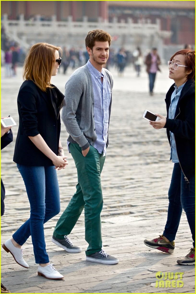 emma stone andrew garfield keep touring asia continue being the cutest couple 10