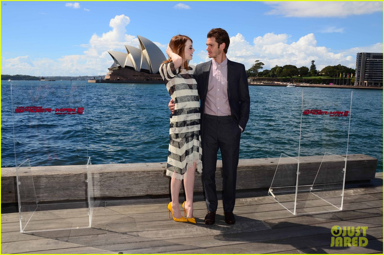 emma stone andrew garfield spider man sydney photo call 073075023