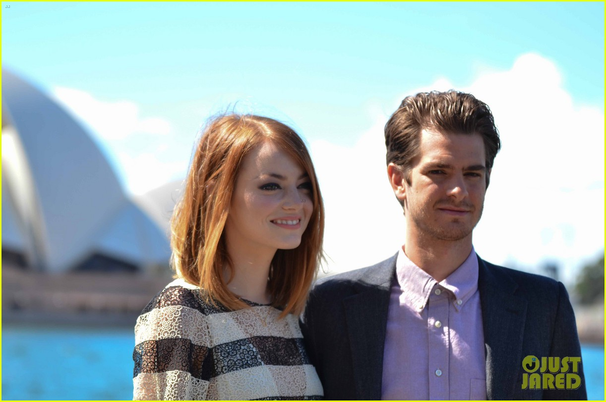 emma stone andrew garfield spider man sydney photo call 13