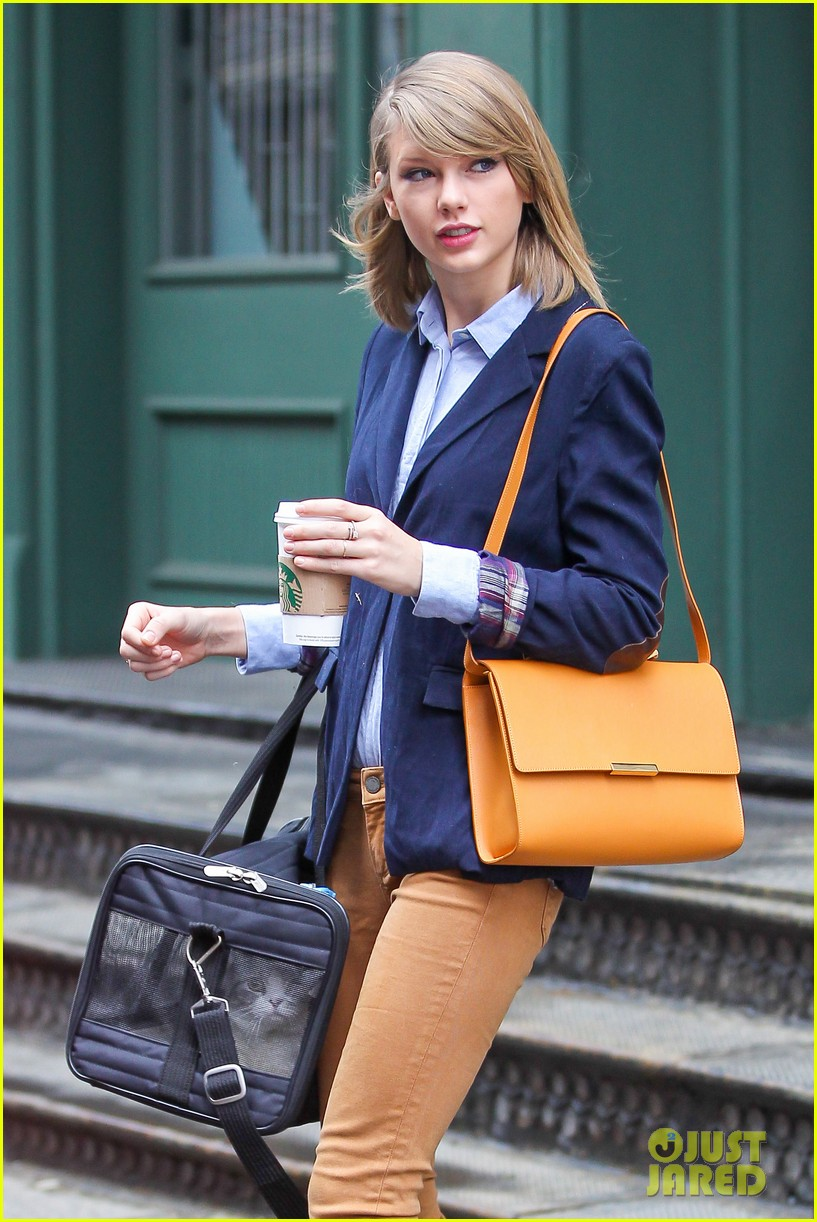 taylor swift brings her cat meredith around nyc in travel carrier 02