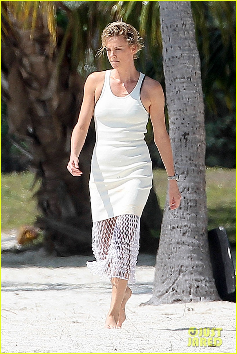 charlize theron bares her bikini body for miami photo shoot 12