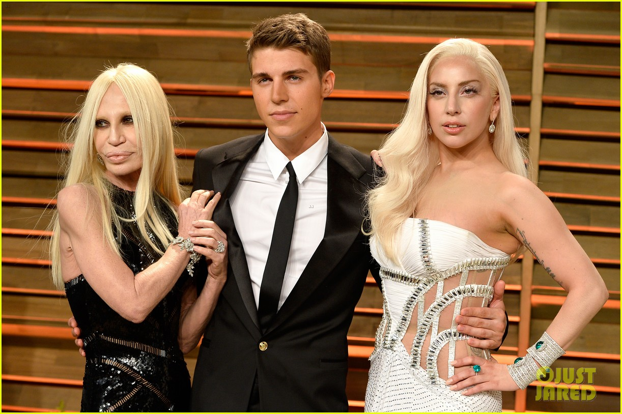 donatella versace vanity fair oscars party 2014 with lady gaga nolan gerard funk 04