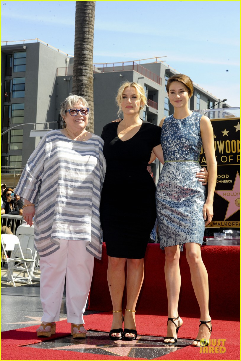kate winslet shailene woodley hollywood walk of fame 033073487