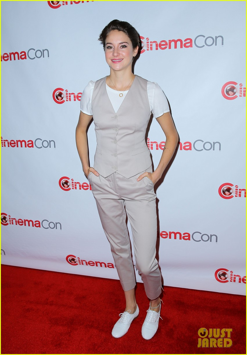 shailene woodley trades dress for slacks a vest at cinemacon 2014 07