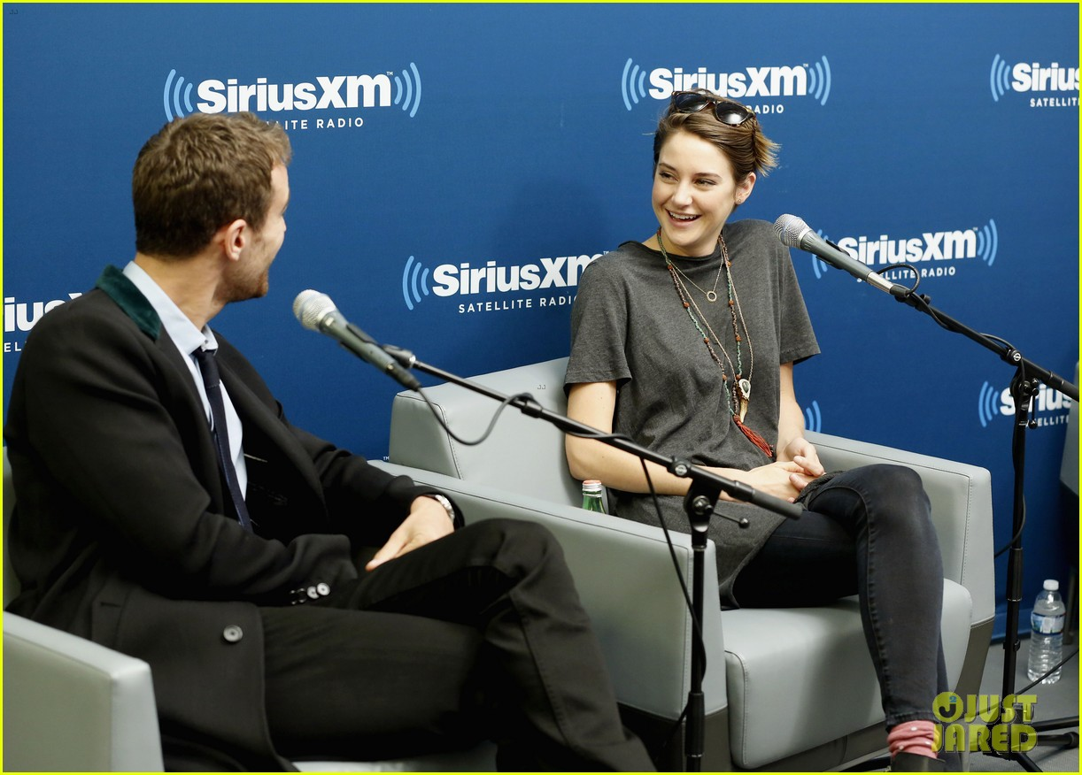 shailene woodley joins theo james for ews divergent radio special at siriusxm 08