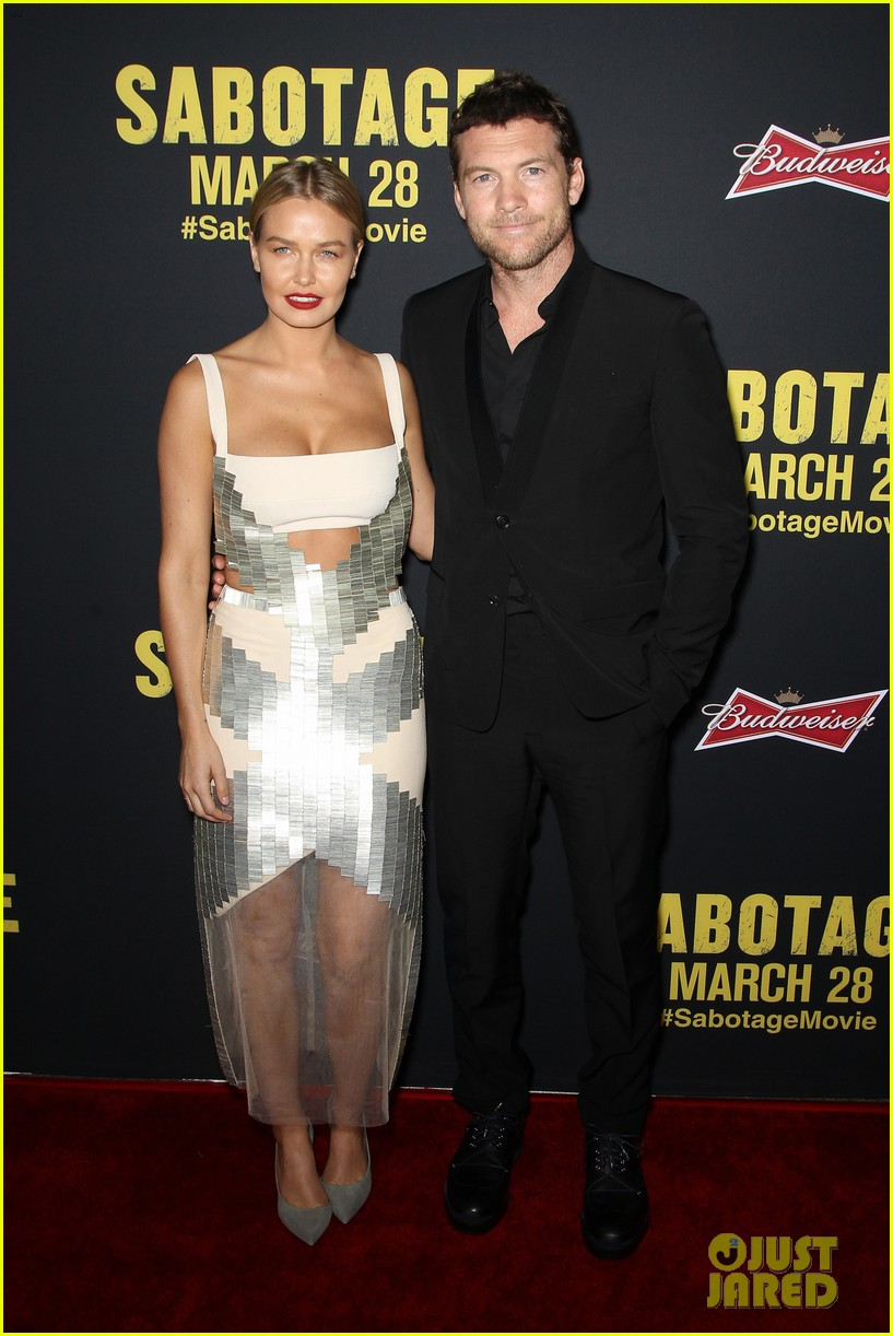 sam worthington lara bingle sabotage premiere 07