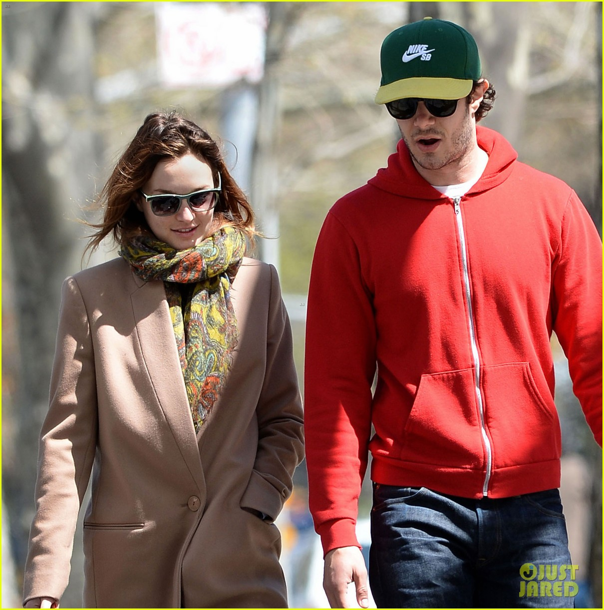 leighton meester adam brody first post marriage sighting nyc 03