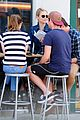dianna agron gets cozy with thomas cocquerel at lunch 03