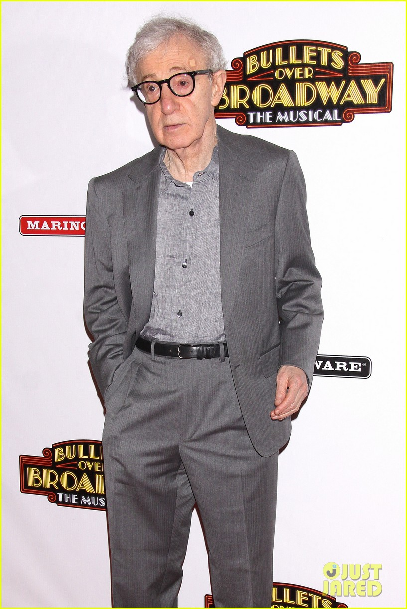 woody allen celebrates his broadway show bullets over broadways opening night 08