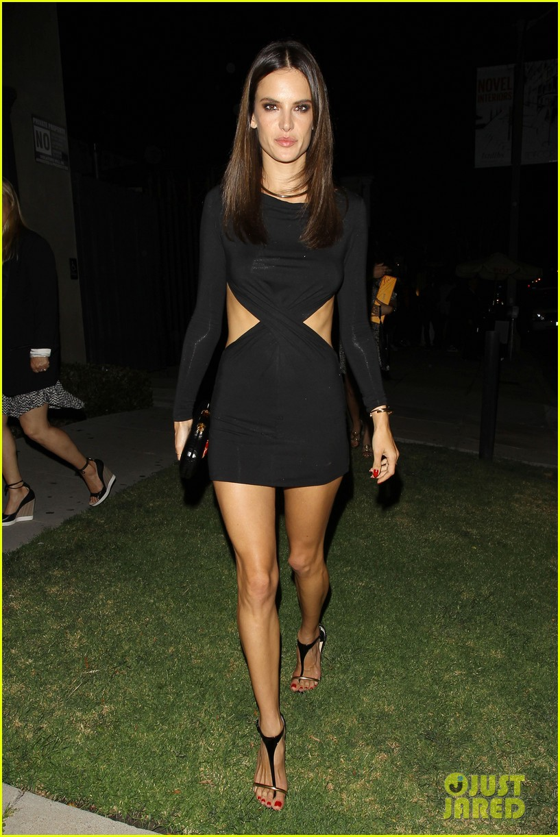 alessandra ambrosio sexy cut out dress 33rd birthday 103088958