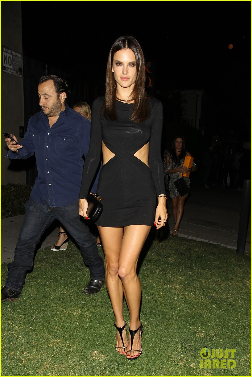 alessandra ambrosio sexy cut out dress 33rd birthday 143088962