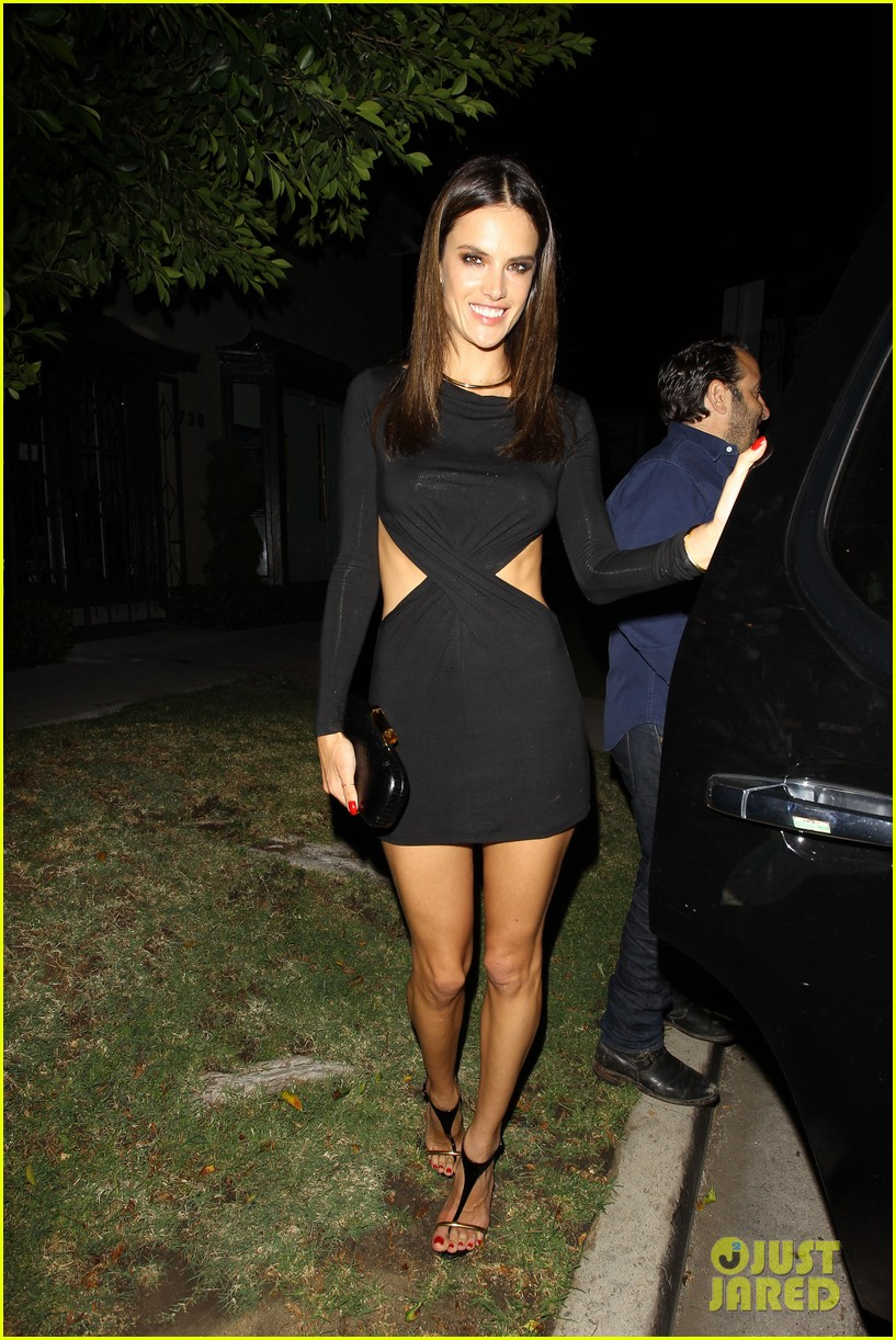 alessandra ambrosio sexy cut out dress 33rd birthday 163088964