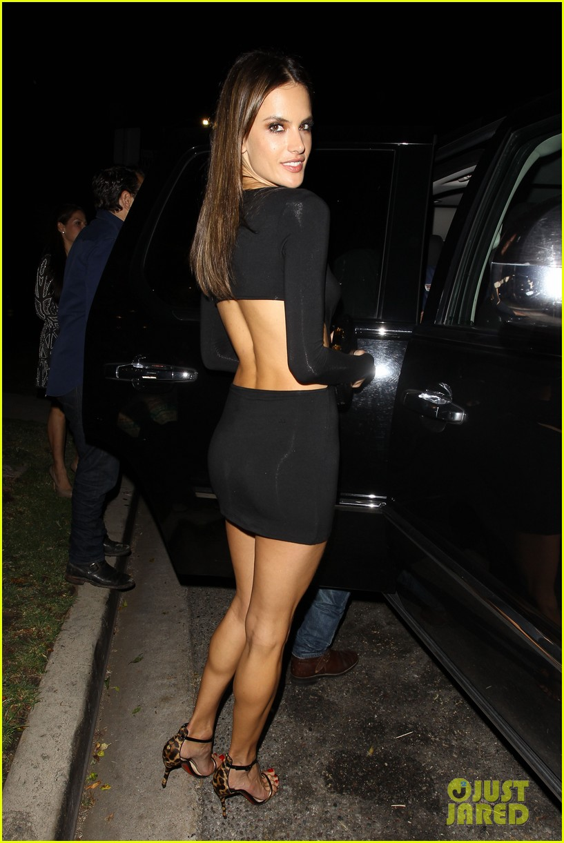 alessandra ambrosio sexy cut out dress 33rd birthday 233088971