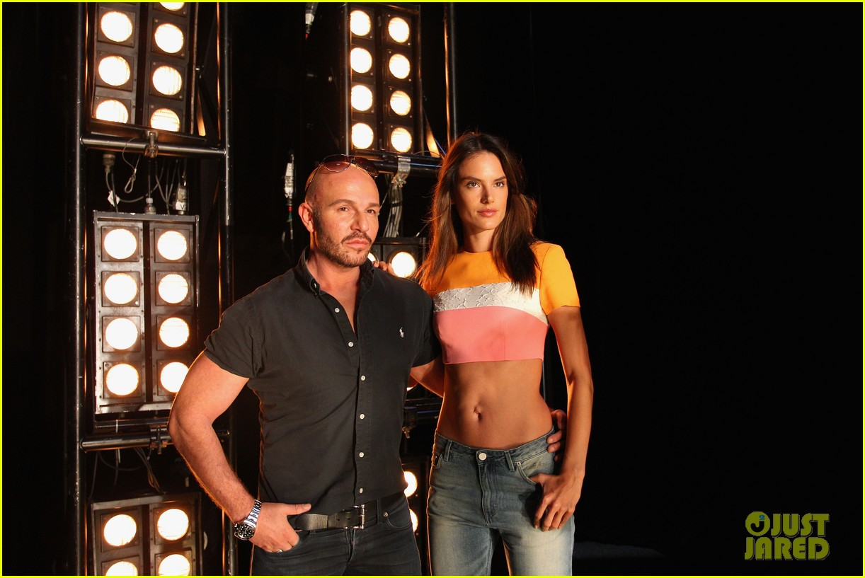 alessandra ambrosio hits the runway for alex perry fashion show 10