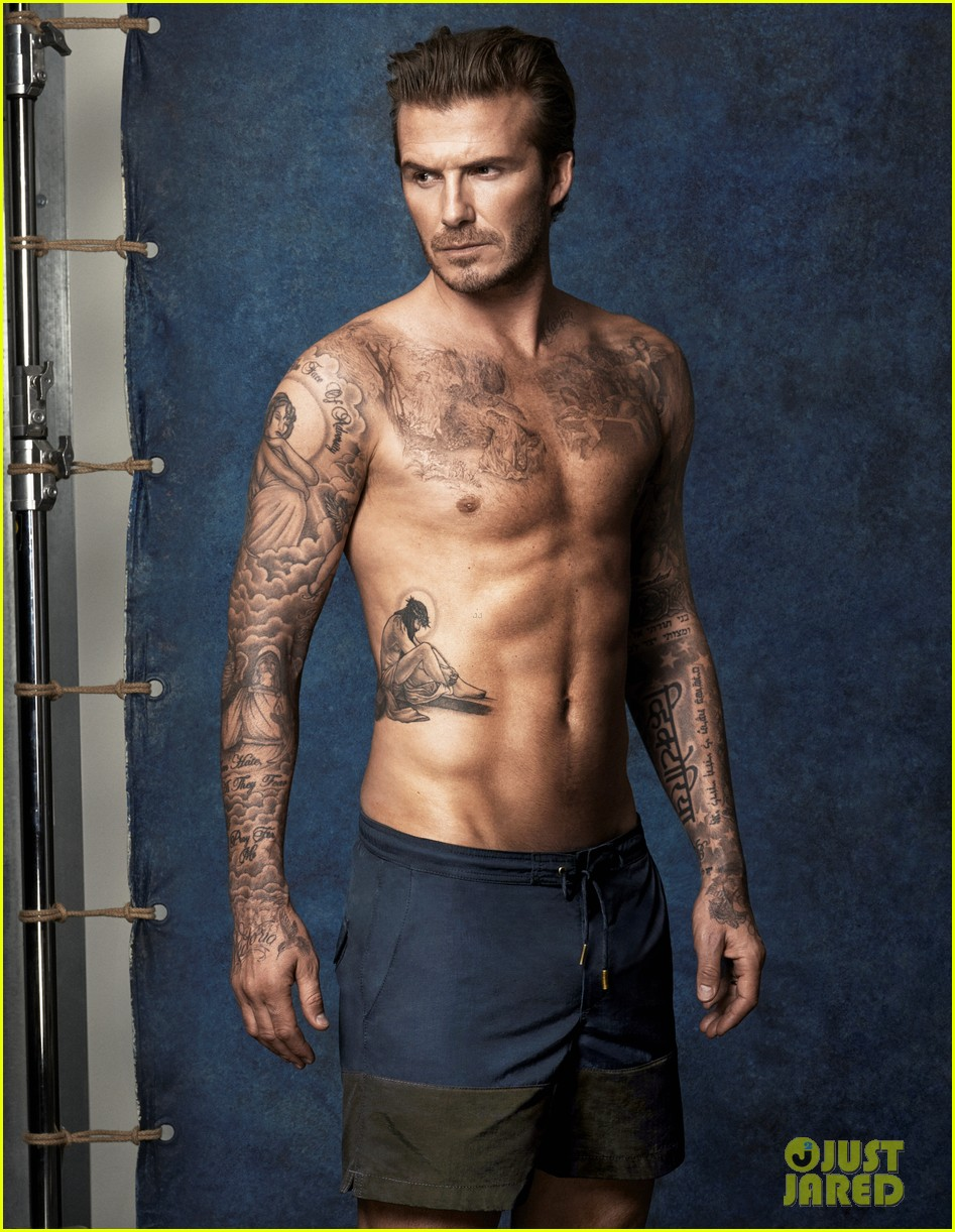 david beckhams buff shirtless bod is on display for new hm ads 01