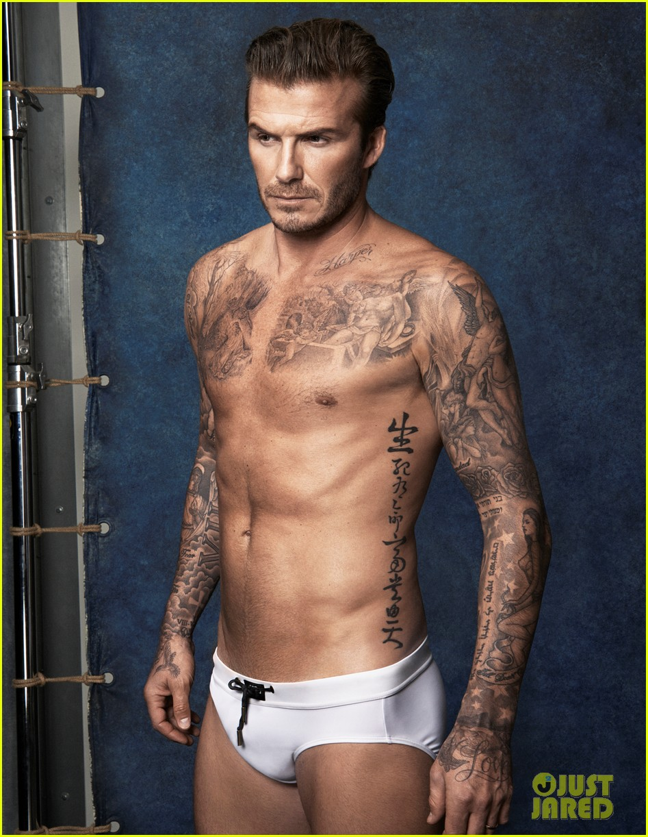 david beckhams buff shirtless bod is on display for new hm ads 02