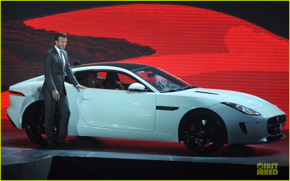 david beckham wow us without driving jaguar 06