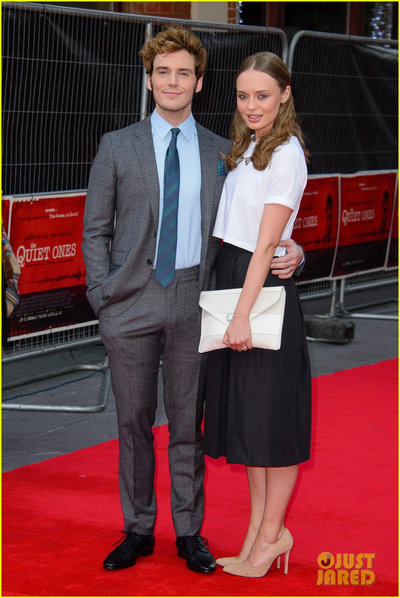 sam claflin brings wife laura haddock to quiet ones world premiere 06