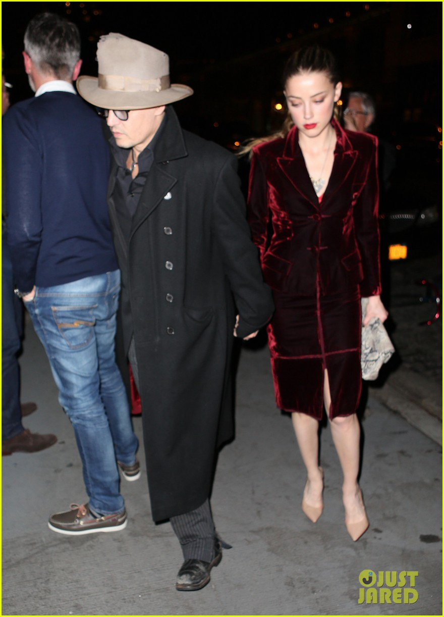 johnny depp takes fiancee amber heard out for brithday dinner 063096618