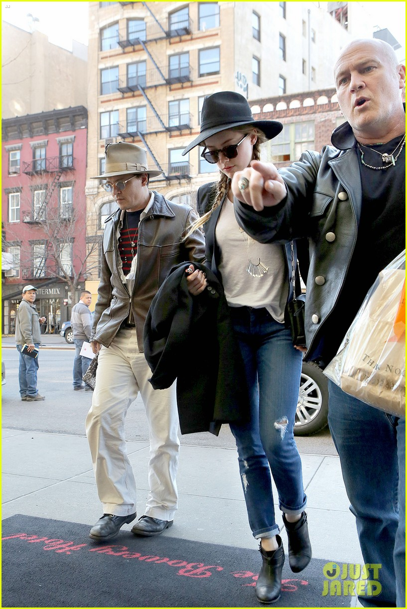 johnny depp amber heard step out together new york 13
