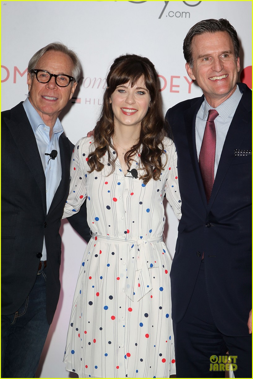 zooey deschanel tommy hilfiger collection launch 17