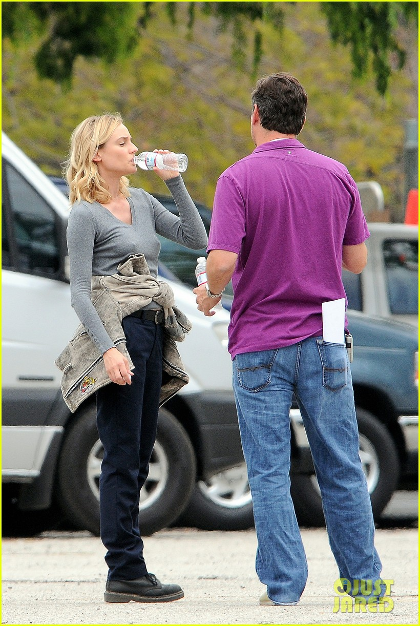 diane kruger gets direction on bridge set 07