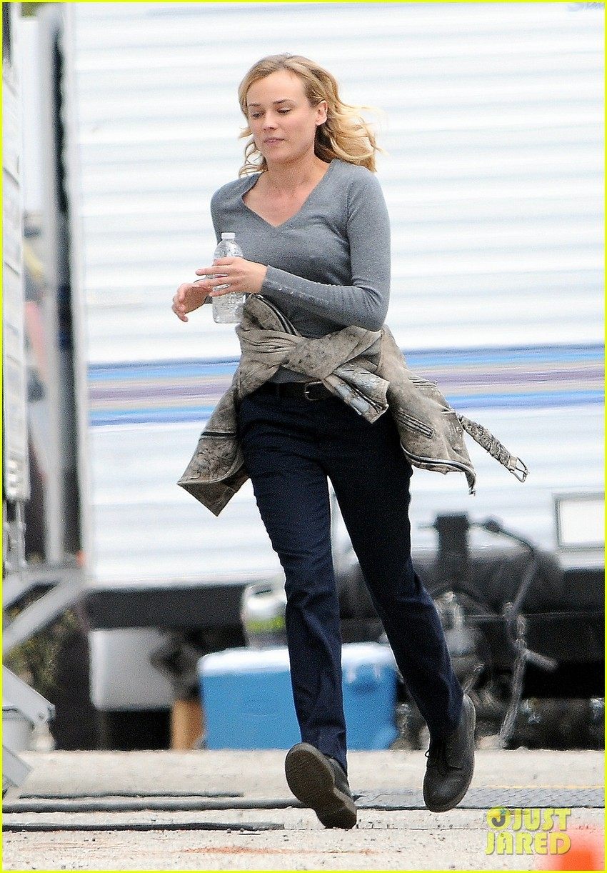 diane kruger gets direction on bridge set 153094514