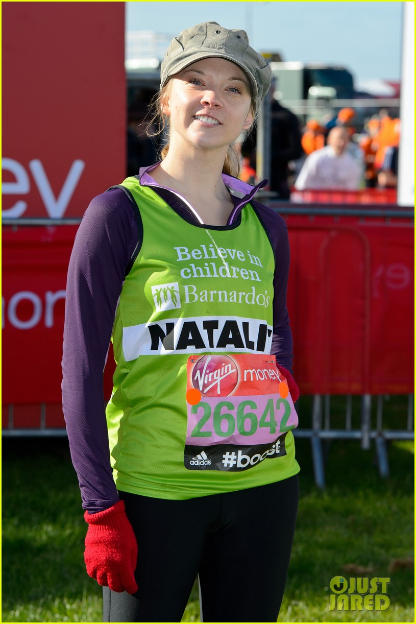 natalie dormer runs london marathon for charity 02