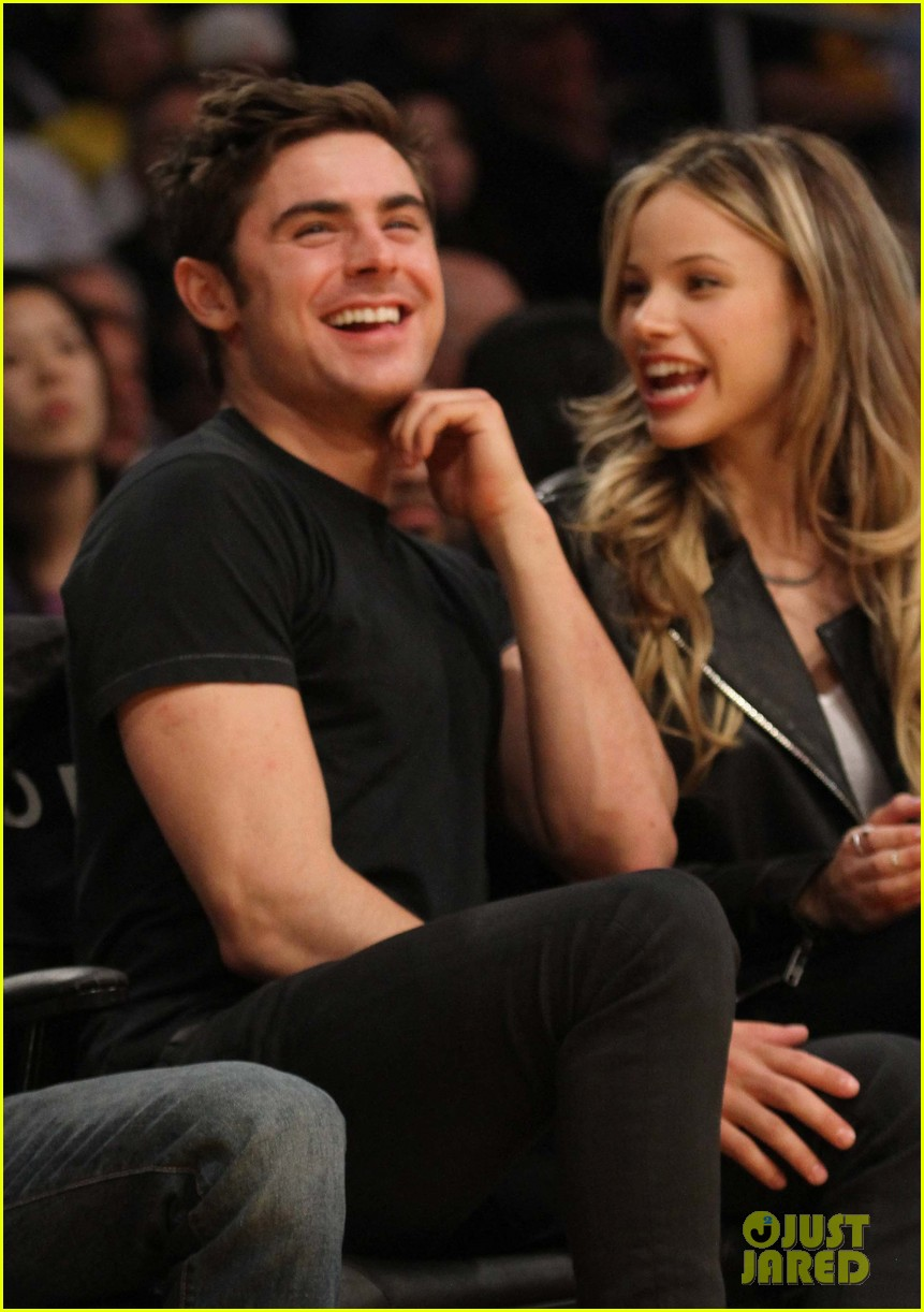 zac efron halston sage lakers game 11