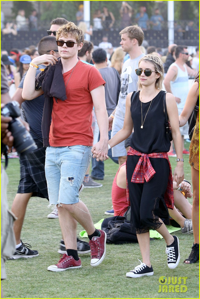emma roberts evan peters inseparable coachella 2014 01
