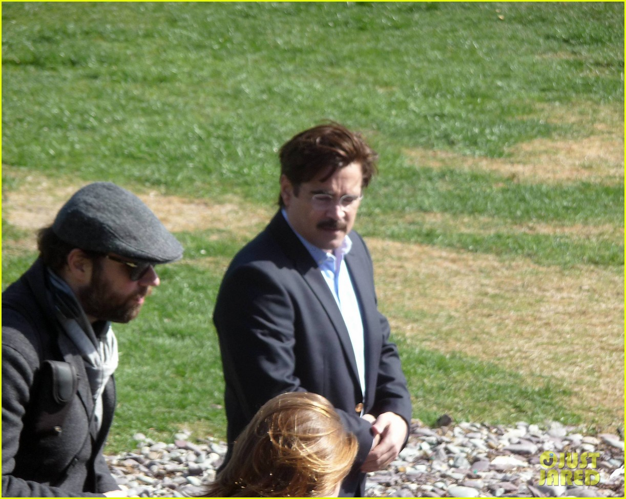 colin farrell is virtually unrecognizable with large belly mustache for lobster 04