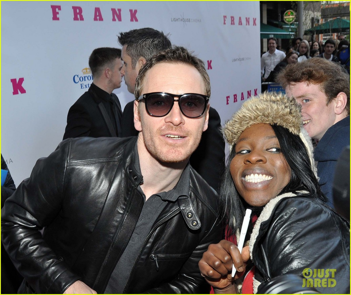 michael fassbender works the red carpet in a leather jacket 14