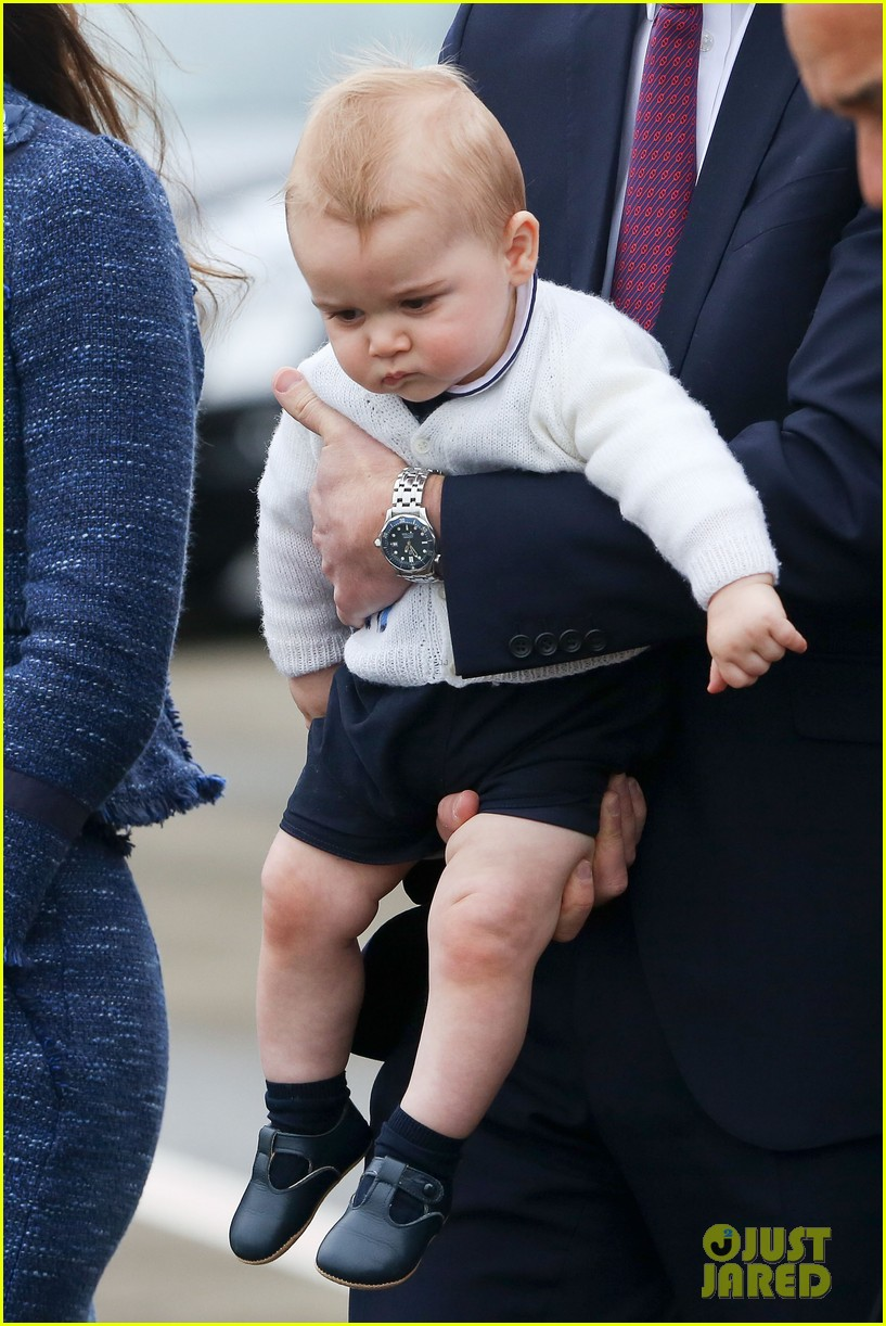 prince george makes appearance parents play with puppies 023092937