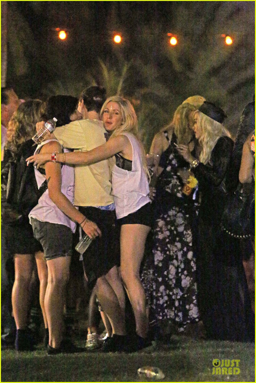 ellie goulding rita ora hang out at coachella 27