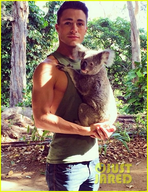 colton haynes giant pecs take over this shirtless pic 043099994